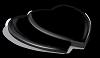 Hart Dubbel Absolut Black 47x36cm