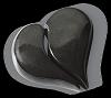Hart Dubbel Absolut Black 30x30x6/2cm
